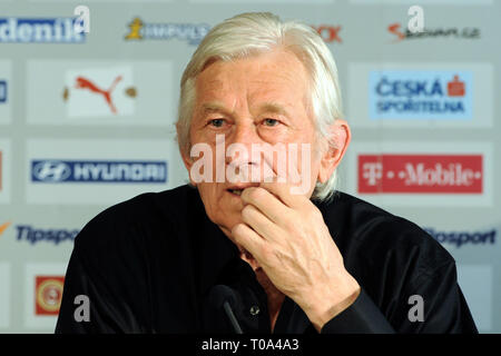 Prague, Czech republic. 18th Mar, 2019. Karel Brückner (born November 13, 1939 in Olomouc) is the current head of the national football team of the Czech Republic, since December 2001. His sides are known for playing attractive, fast-paced and technical football. In the Czech League he was the coach for SK Sigma Olomouc before becoming the national side's coach.He announced his intention to leave his current position at the end of Euro 2008./PSPA/Slavek Ruta Credit: Slavek Ruta/ZUMA Wire/Alamy Live News - Stock Photo