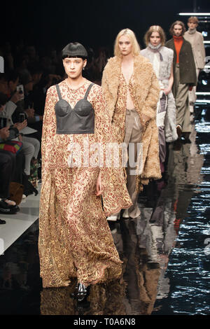 Tokyo, Japan. 18th Mar 2019. Aoi Wanaka Fashion Show. Amazon Fashion Week Tokyo 2019 A/W. (Photos by Michael Steinebach/AFLO) Credit: Aflo Co. Ltd./Alamy Live News - Stock Photo