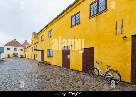 Copenhagen, NOV 19: Exterior view of the historical Bryggergården on NOV 19, 2015 at Copenhagen, Denmark - Stock Photo