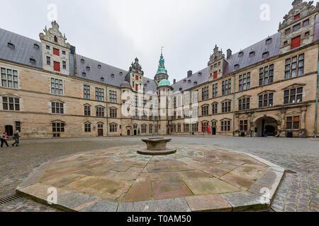 Denmark, NOV 1: Exterior view of the famous Kronborg Castle on NOV 1, 2015 at Denmark - Stock Photo