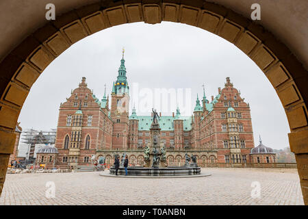 Municipality, NOV 1: Afternoon exterior view of the famous Frederiksborg Castle on NOV 1, 2015 at Municipality, Denmark - Stock Photo