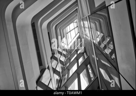 Hong Kong - building interior - Stock Photo
