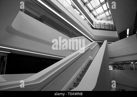 The Hong Kong Polytechnic University - Hong Kong - building interior - Stock Photo