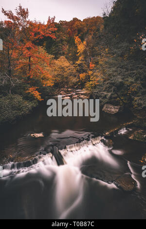 Long exposure of Obed National Wild and Scenic River during Autumn. - Stock Photo