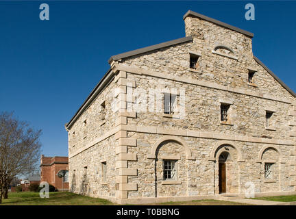 Old Lancaster Jail, South Carolina, USA. - Stock Photo