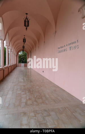 Sarasota, Florida/USA-02/25/2019-The Ringling Art Museum preserves the legacy of John and Mable Ringling. It is home to the Florida State Art Museum - Stock Photo
