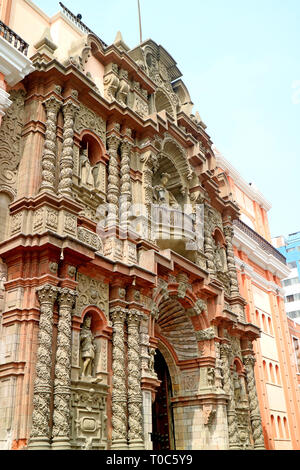 Basilica and Convent of Our Lady of Mercy, Historic Center of Lima, Peru - Stock Photo
