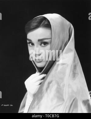 AUDREY HEPBURN portrait 1956 Paramount Pictures Corporation - Stock Photo