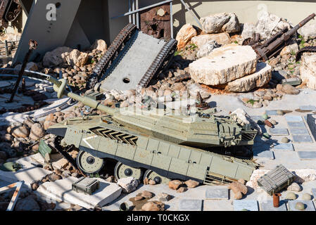 MLEETA, LEBANON - 4 Jan 2019: The Mleeta tourist Memorial (Hezbollah Museum), is a landmark build from the conflict military equipment after the leban - Stock Photo