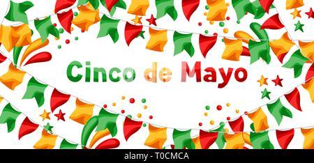 Mexican Cinco de Mayo greeting card. - Stock Photo