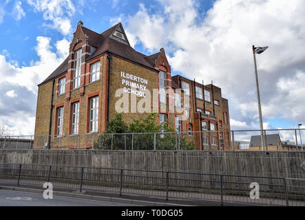 Bermondsey Borough of Southwark London UK - Ilderton Primary School - Stock Photo