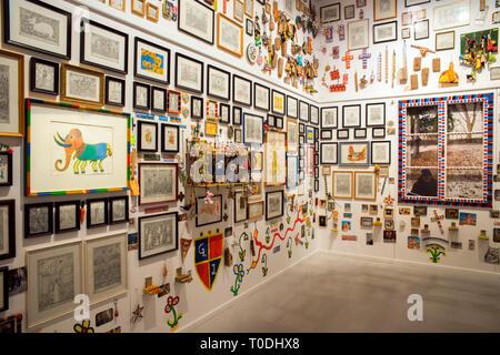 Österreich, Klosterneuburg, Maria Gugging, Art/Brut Center Gugging, Kunstwerke von Johann Garber - Stock Photo