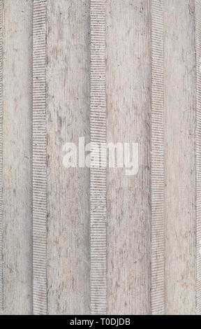 Close-up of a corrugated rough concrete wall, full frame background. - Stock Photo