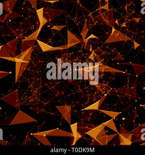 Polygon, Plexus Design - Stock Photo