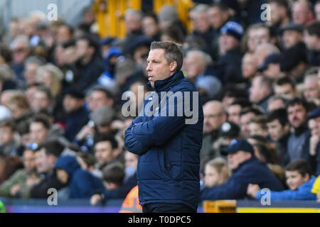 17th March 2019, The Den, Millwall, England; Emirates FA Cup, Sixth Round Millwall vs Brighton & Hove Albion ;  Neil Harris manager of Millwall    Credit: Phil Westlake/News Images   English Football League images are subject to DataCo Licence - Stock Photo