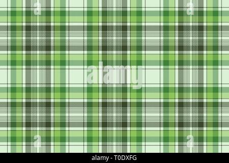 Green ireland check plaid fabric seamless pattern  Vector