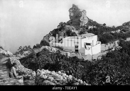 salto di tiberio, capri island, campania, italy 1910-20 - Stock Photo