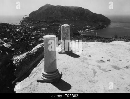 villa jovis, monte tiberio, capri island, campania, italy 1930-40 - Stock Photo