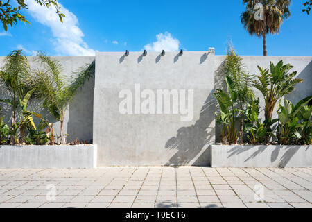 Blank billboard outdoor. Mock up. Empty advertising stand, public information board - Stock Photo