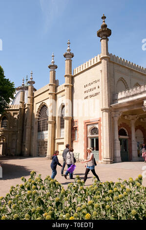 The Royal Pavilion in the seaside town of Brighton, Sussex, England. - Stock Photo