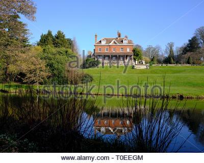 Historic Manor House at Benington Lordship Gardens, Hertfordshire - Stock Photo