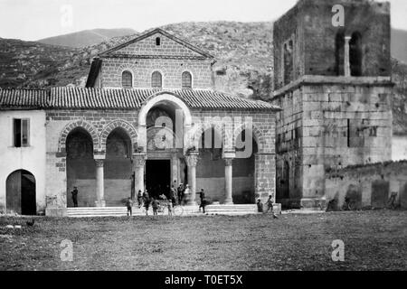 Abbey of Sant'Angelo in Formis, Sant'Angelo in Formis, campania, italy 1910 - Stock Photo