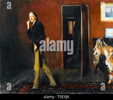 John Singer Sargent, Robert Louis Stevenson and His Wife, portrait, 1885 - Stock Photo