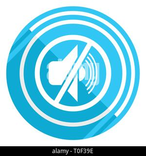 Mute flat design blue web icon, easy to edit vector illustration for webdesign and mobile applications - Stock Photo