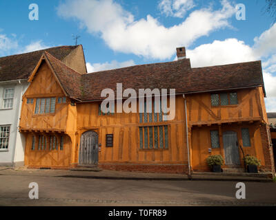 Little Hall, house and garden, in the medieval wool town of Lavenham in Suffolk - Stock Photo