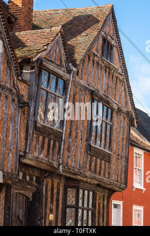 De Vere House in Lavenham, Suffolk, featured in Harry Potter and the Deathly Hallows, Suffolk, England, UK. - Stock Photo