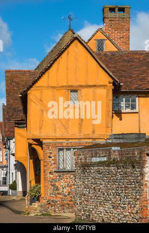 The Little Hall on the Market Square Lavenham Suffolk England UK - Stock Photo