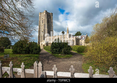 St Peter and St Paul's Parish Church, Lavenham village, Suffolk, England, UK. - Stock Photo
