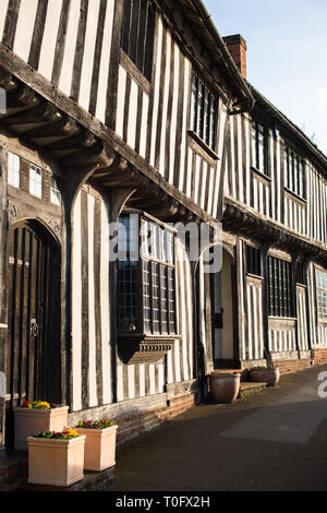 Half-timbered medieval cottages, Lavenham, Suffolk, England, United Kingdom - Stock Photo