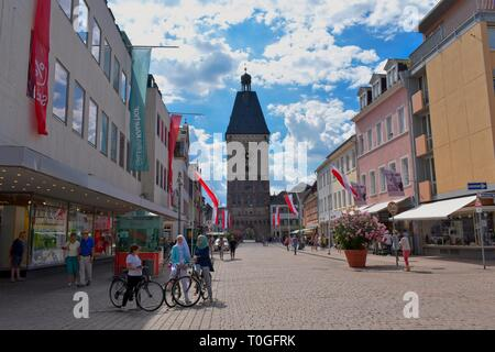 View to the Altpoertel - Old Gate in Speyer, Germany - Stock Photo
