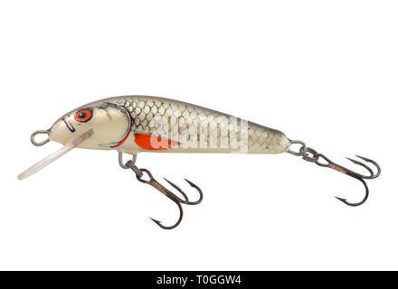 Fishing bait wobbler isolated on white background - Stock Photo