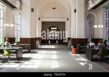 Denmark, Copenaghen, the Black Diamond building, University Royal Library - Stock Photo