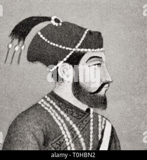 vintage photo Mirza Shahabuddin Baig Muhammad Khan Shah Jahan - Stock Photo