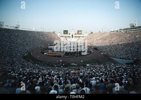 sports, XXIII Olympic Games, opening ceremony, Los Angeles, 1984, Additional-Rights-Clearance-Info-Not-Available - Stock Photo