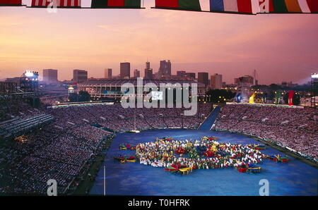sports, XXVI Olympic Games, Atlanta, opening ceremony, 1996, Additional-Rights-Clearance-Info-Not-Available - Stock Photo