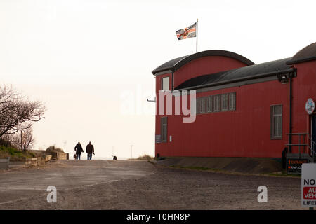 Life Boat Station at the Beach at Caister on Sea, Norfolk, UK - Stock Photo