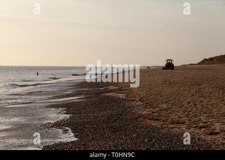 Beach at Caister on Sea, Norfolk, UK - Stock Photo