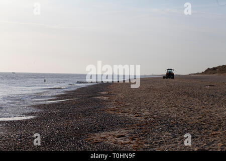 Beach at Caister on Sea, Norfolk, UK - Stock Photo