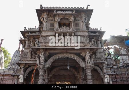 Hathee Singh Jain temple/Ahmedabad-Gujarat/India. - Stock Photo