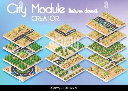 City module creator - Stock Photo