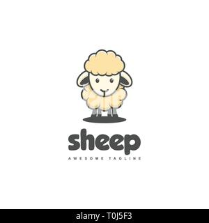 Sheep Concept illustration vector template. Suitable for Creative Industry, Multimedia, entertainment, Educations, Shop, and any related business - Stock Photo