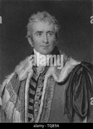 'William Pitt Amherst, Earl Amherst', early 19th century. Creator: S Freeman. - Stock Photo