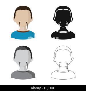 Vector illustration of imitator and resident symbol. Set of imitator and culture vector icon for stock. - Stock Photo