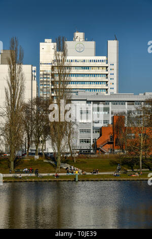 Bayer Pharma AG, north shore, Wedding, Berlin, Germany, Nordufer, Deutschland - Stock Photo