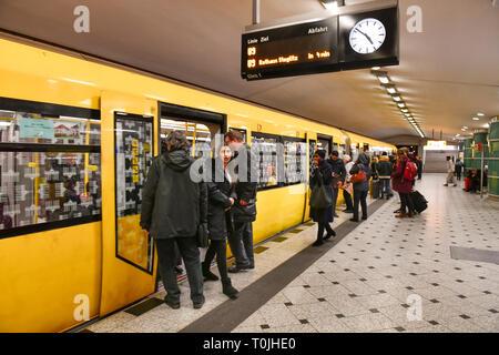 U9, railway station zoological garden, Charlottenburg, Berlin, Germany, Bahnhof Zoologischer Garten, Deutschland - Stock Photo
