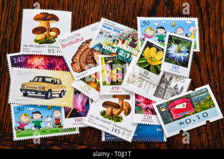German stamps, Deutsche Briefmarken - Stock Photo
